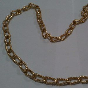 "Gold Chain Jewelry - Yellow gold Plated Chain 27, 30 or 36"" Your Choice"